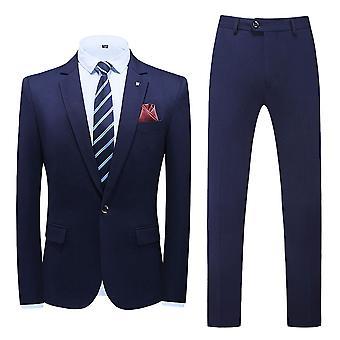 YANGFAN Men's 3 Piece Slim Fit Suit Set,1 Button Blazer Jacket Vest Pants,Solid Wedding Dress Tux and Trousers