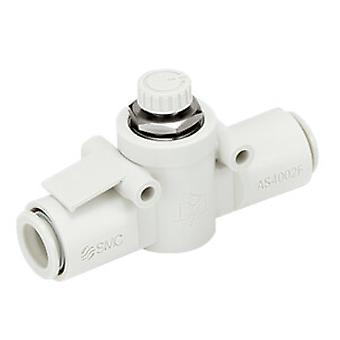 Controlador de flujo de As2052F-08 de SMC, 8 Mm tubo entrada X 8Mm tubo de salida de Puerto