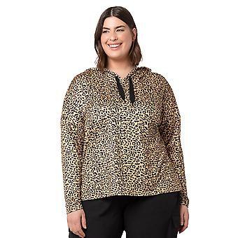 Women's Plus Size Printed Moss Jersey Long Sleeve Hoodie