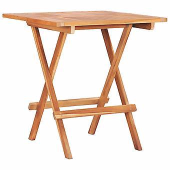 vidaXL Składany stół bistro 60 x 60 x 65 cm Teak Solid