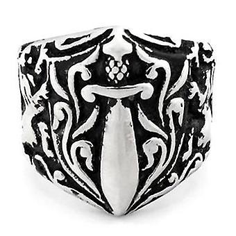 Medieval motif knights templar ring
