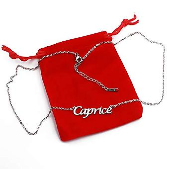 """L Caprice - Adjustable necklace with custom name, silver tonalit, 16""""- 19"""