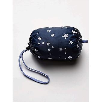 Essentials Big Girls lätta vattenbeständiga packbara pufferjacka, mörklila, medium