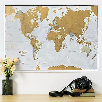 Scratch the World® - Franska Språket (Silk Art Paper)