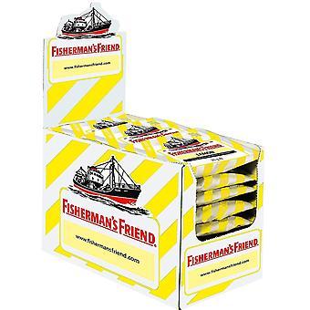 Zitronen-| Karton mit 24 Beuteln | Zitrone und Menthol Geschmack | Zuckerfrei für frischen Atem