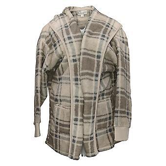 Koolaburra Przez UGG Damski Sweter Przytulny Kudłaty Kardigan Beżowy A386142