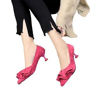 High Heels 5.5cm Small Shoes With Pointed Toe And Small Mouth