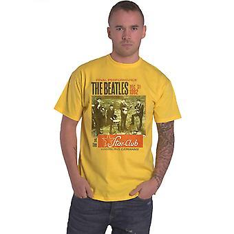The Beatles T Shirt Star Club Hamburg Vintage juliste virallinen miesten uusi keltainen