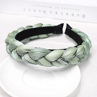 Handmade Beautifully braided diadem in pastel colors summer padded