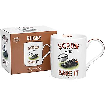 Rugby Fine China Mug By Lesser & Pavey
