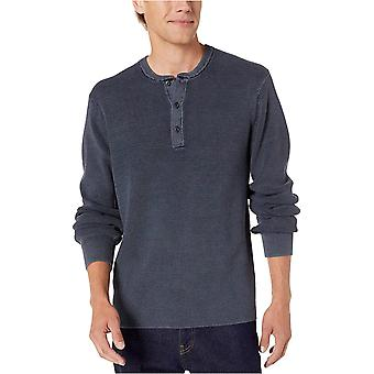 Marca - Goodthreads Hombres's Soft Cotton Henley Sweater