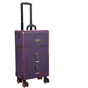 High Capacity Big Cosmetic Bag, Travel Trolley Luggage Case