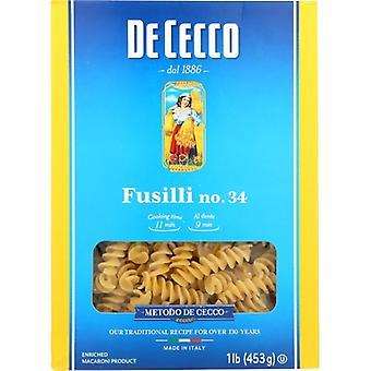 De Cecco Pasta Fusilli, Case of 12 X 16 Oz