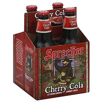Sprecher Soda Cherry Cola 4Pk, Case of 6 X 64 Oz