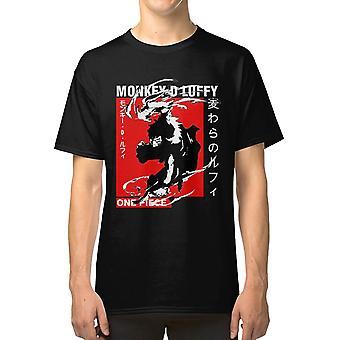 Luffy قطعة واحدة تي قميص أنيمي مانغا otaku بارد القراصنة luffy