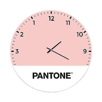Orologio Up side Down, Colore Rosa, Bianco, Nero in Metallo, L40xP0,15xA40 cm