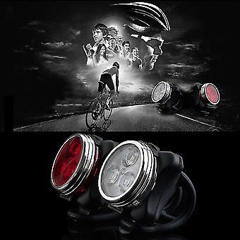 Rower rowerowy 3 Led 4 tryby Head Front Tylne światło tylne Lampa USB Akumulator