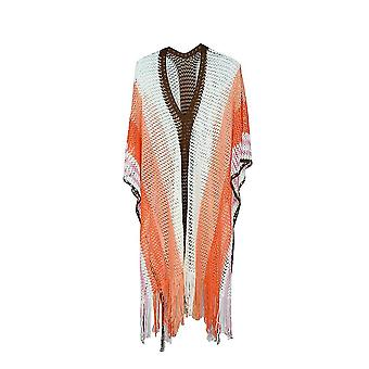 Κοίλο έξω μπικίνι κάλυψη μέχρι χρώμα ταιριάζει με φούντα Boho πλεκτό beachwear Kaftan