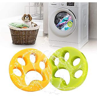 4 Pack Pet Hair Remover For Laundry Fur Remover Hair Catcher Cleaning Lint Remover(4xRound)