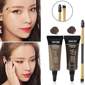 Profssional 2 Colors Waterproof Eyebrow Cream Gel Eye Brow Gel Beauty Makeup