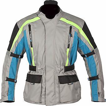 Spada Turini Men's Motorcycle Jacket Grey Waterproof CE Armour Hi-Vis