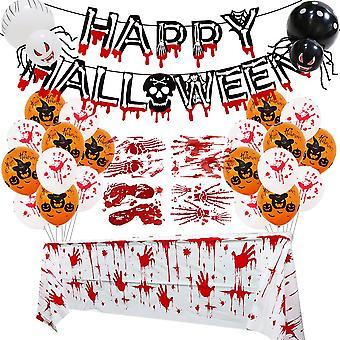 Lohill Happy Halloween Globos Colgantes Garland Banner Puerta Colgando Decoracións de la Fiesta Set