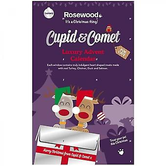 Rosewood Luxury Advent Calendar Cupid & Comet, Candies With Meat And Fish - For Cat