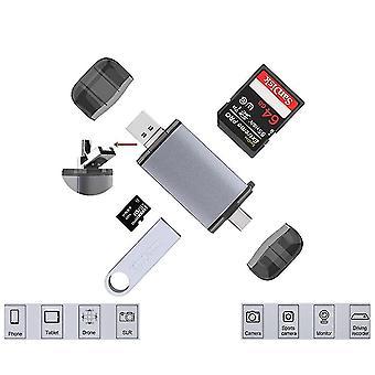 Otg قارئات بطاقة 6 في 1 Usb نوع ج / microusb / usb2.0 / tf / SD قارئات بطاقة الذاكرة للكمبيوتر