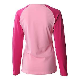 Asics Essentials Long Sleeve Colourblock Womens Fitness Running Shirt Tee