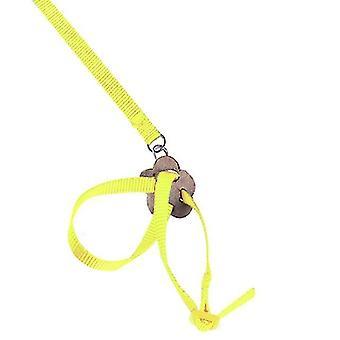 Papagei Zug Leine 1cm breit verstellbare Polyester Geschirr Anti Biss Seil