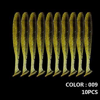 المشي الأسماك 10pcs / الكثير لينة السحر سيليكون الطعم 90mm 70mm 55mm التمايل Jigging