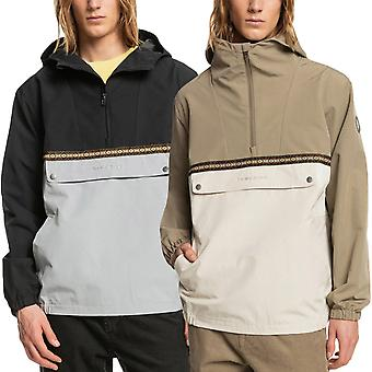 Quiksilver Mens Popover Transeasonal Pullover Hooded Parka Jacket Coat