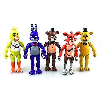 Five Nights At Freddy' Fnaf Action Figure Bear Bunnie Chica Foxy 5st Set Speelgoed