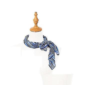צעיפים שיער מרובע צוואר צעיף שינה לנשים (כחול) #301