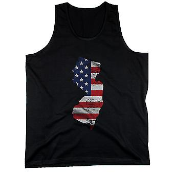 New Jersey State USA Flagge Herren Tank Top New Jersey amerikanische Flagge Panzer
