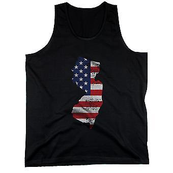 NJ statligt USA flagga mäns Tank Top New Jersey amerikanska flaggan tankar