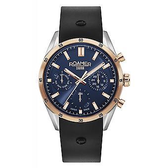 Roamer 508982 49 45 05 Men's Superior Day Date Rubber Strap Wristwatch