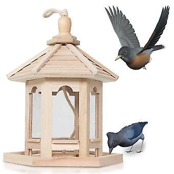 תליית ציפורי בר להאכיל מתקן ציפור עץ זרעים מיכל ציפורים בית גינה