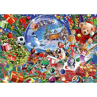 Bluebird Christmas Globe Jigsaw Puzzle (1000 Pieces)