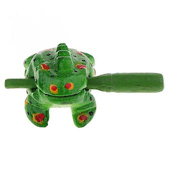 Koolyou Traditional Wooden Craft Lucky Frog Art Doll Ornament