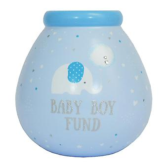 Holiday ornament displays stands little elephant baby boy blue money save up smash money box christmas gift