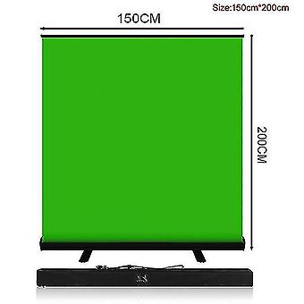 Camera accessory sets pynsseu 150cm*200cm background collapsible green screen chromakey backdrop pull-up stand for youtube