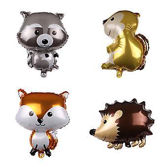 Nouveau ballon en aluminium animal raton laveur fox hérisson