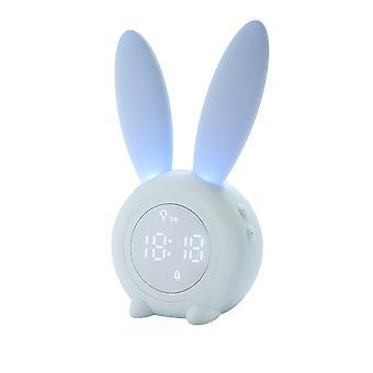 Silktaa Children's Cartoon Cute Rabbit Timer Alarm Clock Rechargeable Children's Night Light