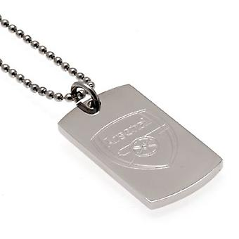 Arsenal gegraveerd dog tag & ketting