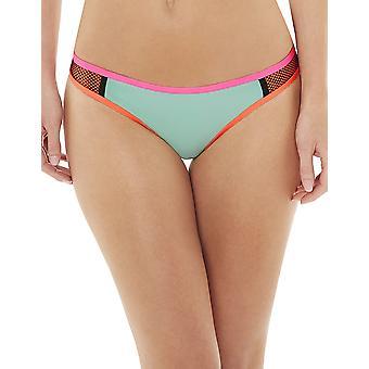 Audelle Surf Fressia flerfärgad Mesh låg upphov Bikini byxa 155970