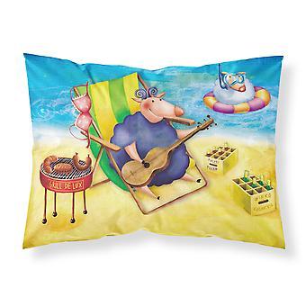 خنزير حمامات الشمس على شاطئ النسيج القياسية وسادة