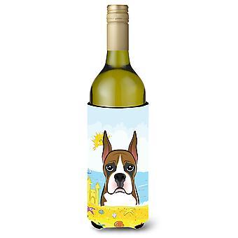 Boxer Summer Beach Wine Bottle beverage Insulator Hugger