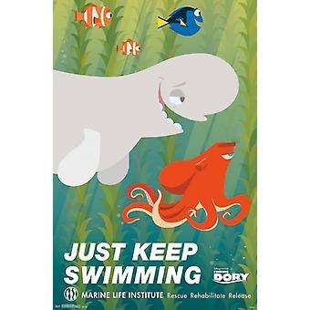 Znalezienie Dory - pływanie plakat Poster Print