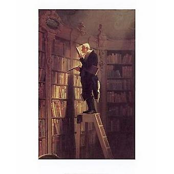 Bookworm Poster trykk av Carl Spitzweg (16 x 20)